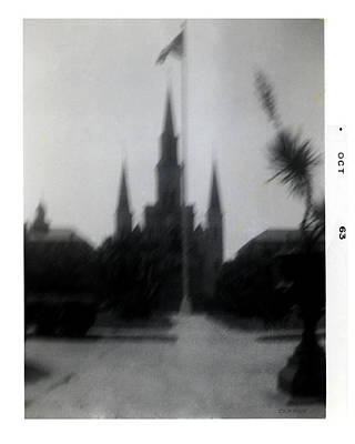 Photograph - Saint Louis Cathedral October 1963 by Doug  Duffey