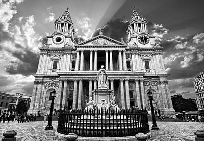 Religious Photograph - Saint Paul's Cathedral by Meirion Matthias