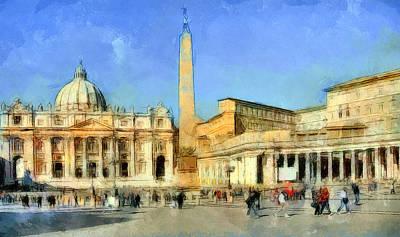 Saint Peter Square Vatican Art Print