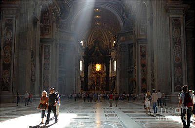 Photograph - Saint Peters Basillica by Bob Christopher