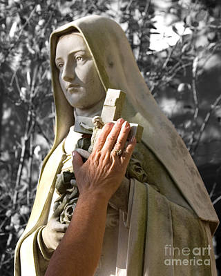 Photograph - Saint Theresa Of The Rose by Pete Klinger