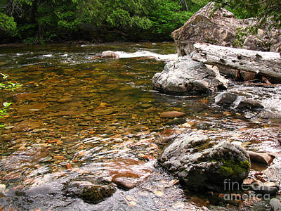 Sainte-anne River, Quebec Art Print by Ted Kinsman