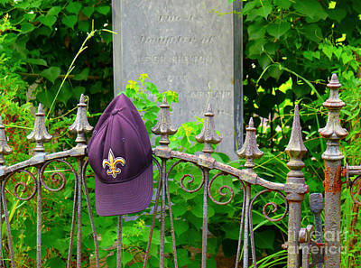 Art Print featuring the photograph Saints Hat On Iron Fence by Jeanne  Woods