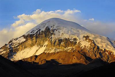 Sunset Photograph - Sajama Mountain At Sunset. Republic Of Bolivia. by Eric Bauer