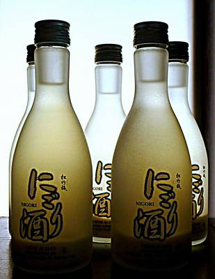 Sake Bottle Photograph - Sake by Lori Seaman