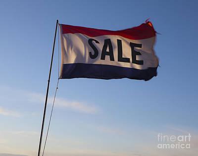 Sale Flag In The Wind Art Print by Paul Edmondson