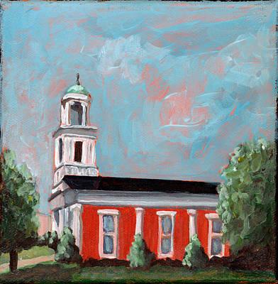 City Scape Painting - Salem Presbyterian Church by Todd Bandy