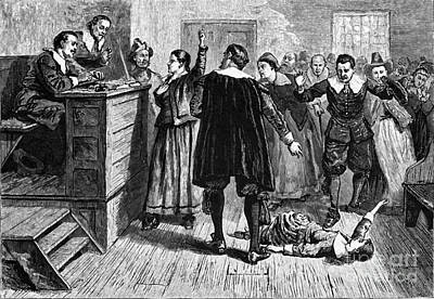 King Of Darkness Photograph - Salem Witch Trials, 1692-93 by Photo Researchers