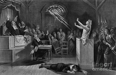 Photograph - Salem Witch Trials by Photo Researchers