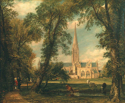 Ideal Painting - Salisbury Cathedral From The Bishop's Grounds by John Constable