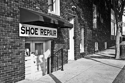 Shoe Repair Photograph - Salisbury Shoe Repair by Patrick M Lynch