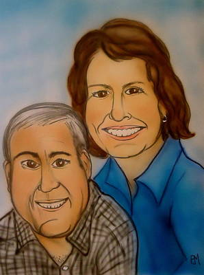 Caricature Drawing - Sally And Art by Pete Maier
