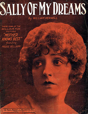 Old Sheet Music Photograph - Sally Of My Dreams by Mel Thompson