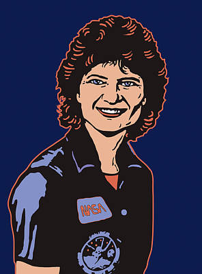 Digital Art - Sally Ride Phd by Linda Ruiz-Lozito