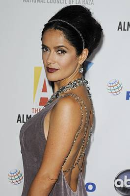 Hair Bun Photograph - Salma Hayek At Arrivals For The Nclr by Everett
