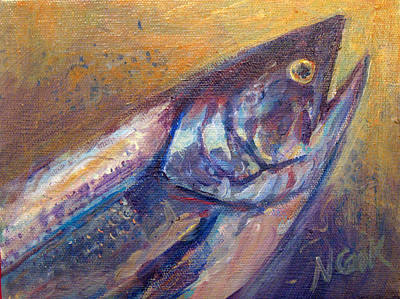 Painting - Salmon Close-up by Nanci Cook