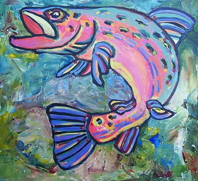 Painting - Salmon by Krista Ouellette