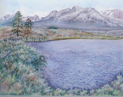 Salmon River Idaho Painting - Salmon River In Stanley Idaho by Beverly Chick