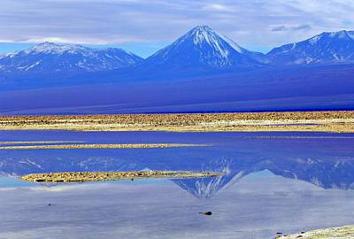 Salt Lake At The Atacama Desert Chile Art Print