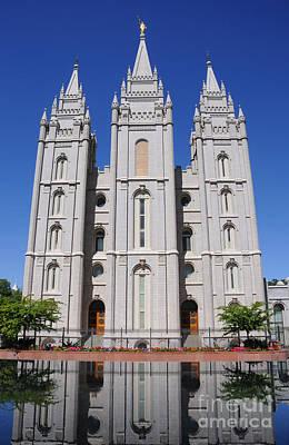Salt Lake Mormon Temple Art Print by Gary Whitton