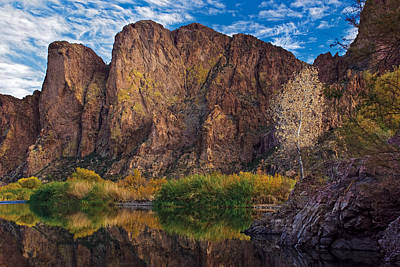 Southwestern Photograph - Salt River Reflections by Dave Dilli