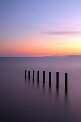 Photograph - Saltcoats Sunset by Grant Glendinning