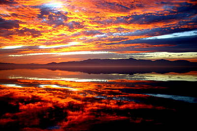 Photograph - Salton Sea Sunset Number One by Scott Brown