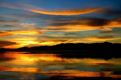 Photograph - Salton Sea Sunset Number Three by Scott Brown