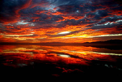 Photograph - Salton Sea Sunset Number Two by Scott Brown
