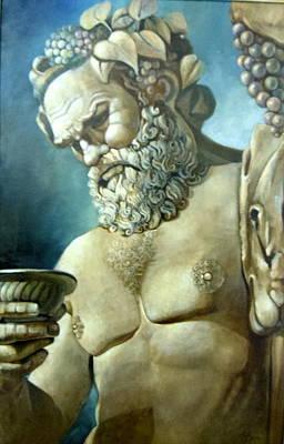 Salutations From Bacchus Art Print by Geraldine Arata