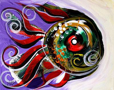 Fish Abstract Painting - Salvador Dali Octo Fish by J Vincent Scarpace