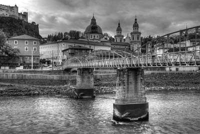 Photograph - Salzach River Bridge by Anthony Citro
