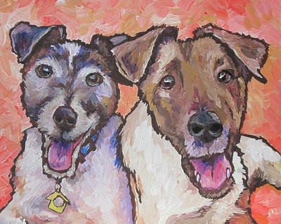 Painting - Sammy And Billy by Sandy Tracey