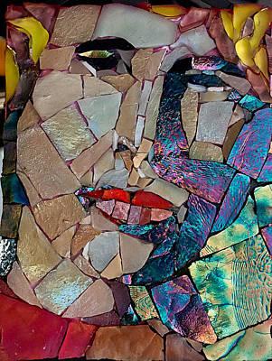Mitch Brookman Glass Art - Sammy Hagar by Mitch Brookman