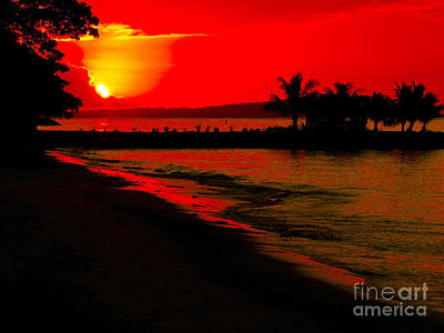 Photograph - Samoan Sunset by Karen Lewis
