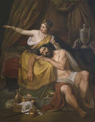 Half God Painting - Samson And Delilah by Jose Salome Pina