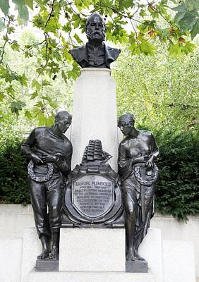 Victoria Embankment Photograph - Samuel Plimsoll Commemorative Monument by Sheila Terry