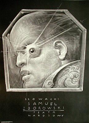 Mixed Media - Samuel Zborowski by Franciszek Starowieyski