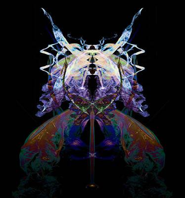 Samurai Bug Plant Art Print by David Kleinsasser