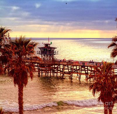 Beach Photograph - San Clemente Pier by David Ricketts