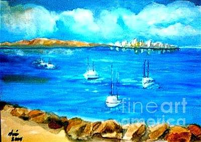 Painting - San Diego Bayview by Jose Breaux