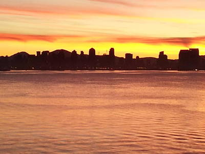 Photograph - San Diego City Scape Sunrise by Catherine Kurchinski