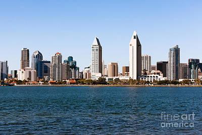 San Diego City Skyline Art Print by Paul Velgos