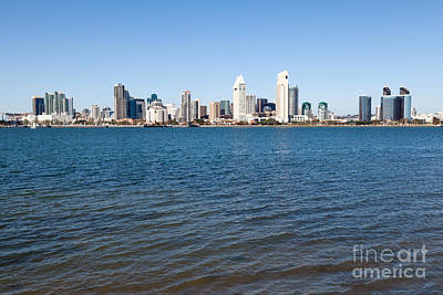 San Diego Bay Photograph - San Diego Cityscape by Paul Velgos