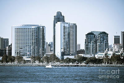 San Diego Bay Photograph - San Diego Downtown Waterfront Buildings by Paul Velgos