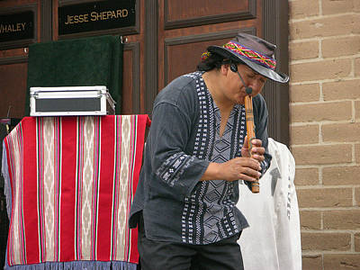 Photograph - San Diego Old Town Musician by Helen Haw