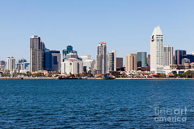 San Diego Skyline Buildings Art Print by Paul Velgos