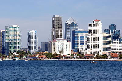 Photograph - San Diego Skyline by Jeff Lowe
