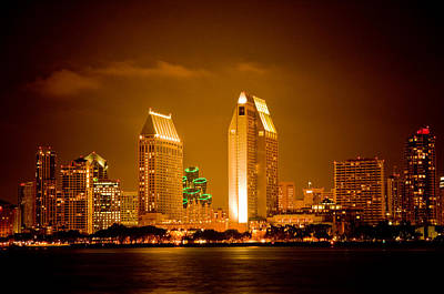 Photograph - San Diego Skyline by Mickey Clausen