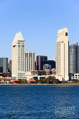 San Diego Bay Photograph - San Diego Skyscrapers by Paul Velgos